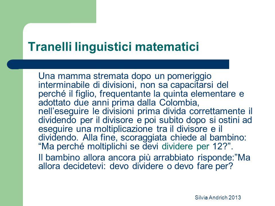Tranelli linguistici matematici