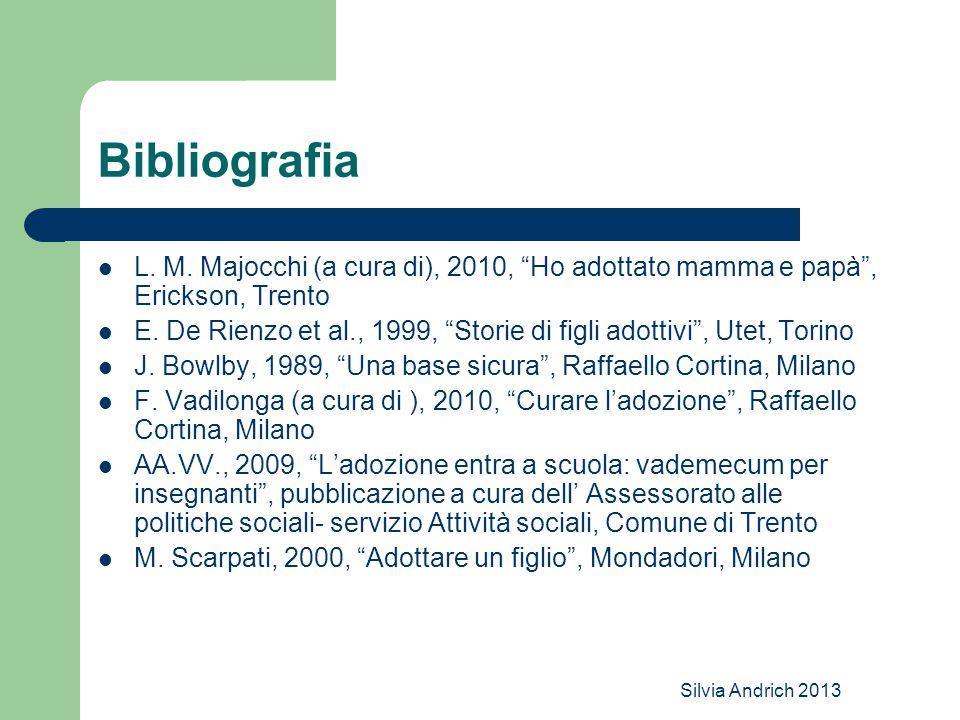Bibliografia L. M. Majocchi (a cura di), 2010, Ho adottato mamma e papà , Erickson, Trento.