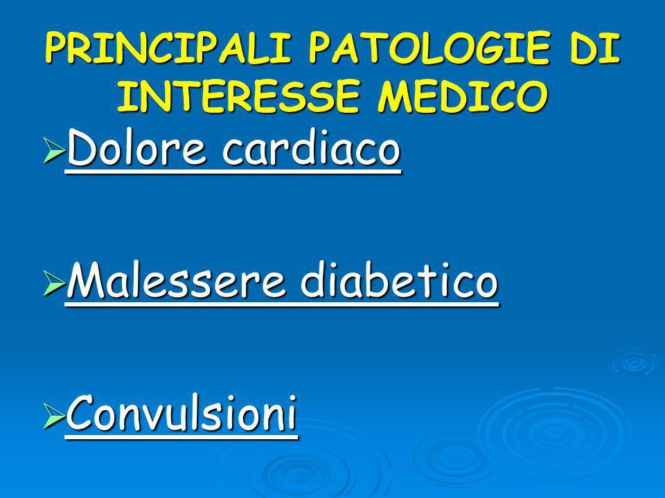 PRINCIPALI PATOLOGIE DI INTERESSE MEDICO