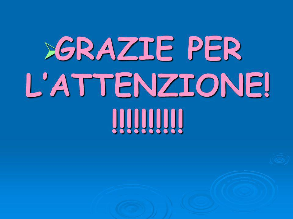 GRAZIE PER L'ATTENZIONE!!!!!!!!!!!