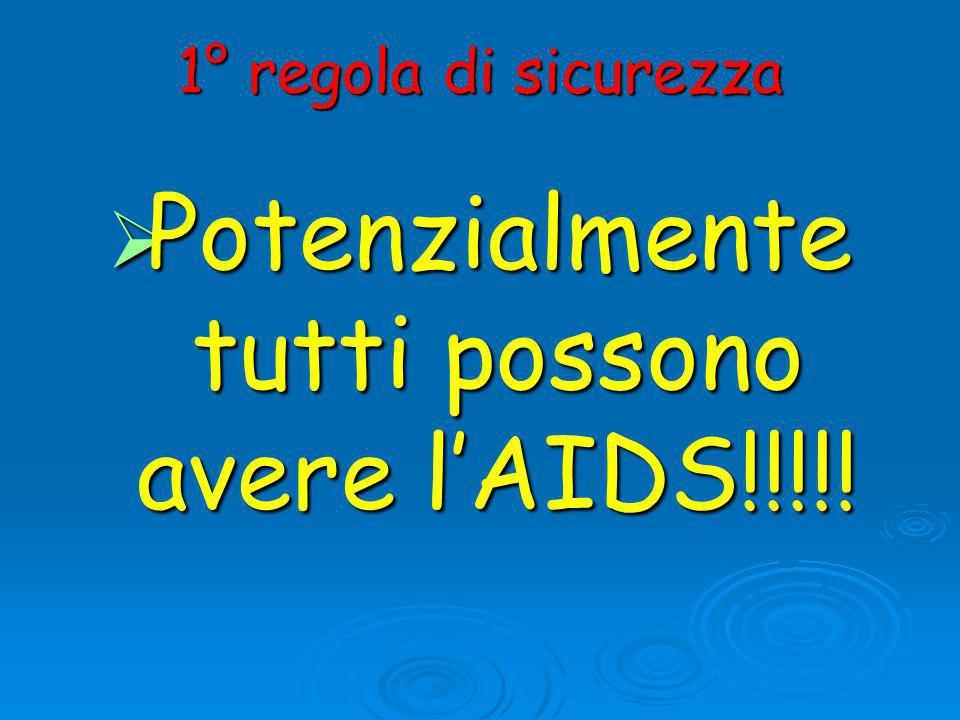 Potenzialmente tutti possono avere l'AIDS!!!!!