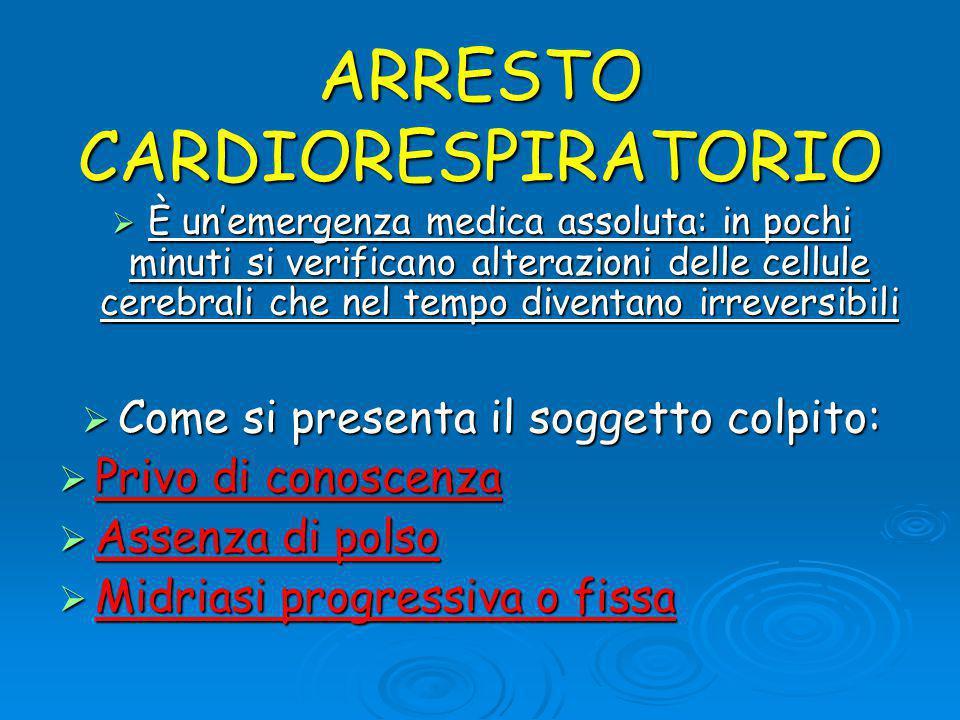 ARRESTO CARDIORESPIRATORIO
