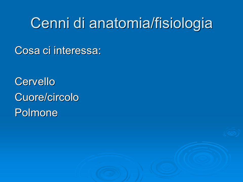 Cenni di anatomia/fisiologia