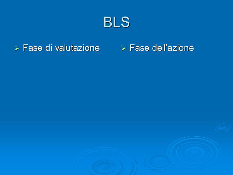 BLS Fase di valutazione Fase dell'azione