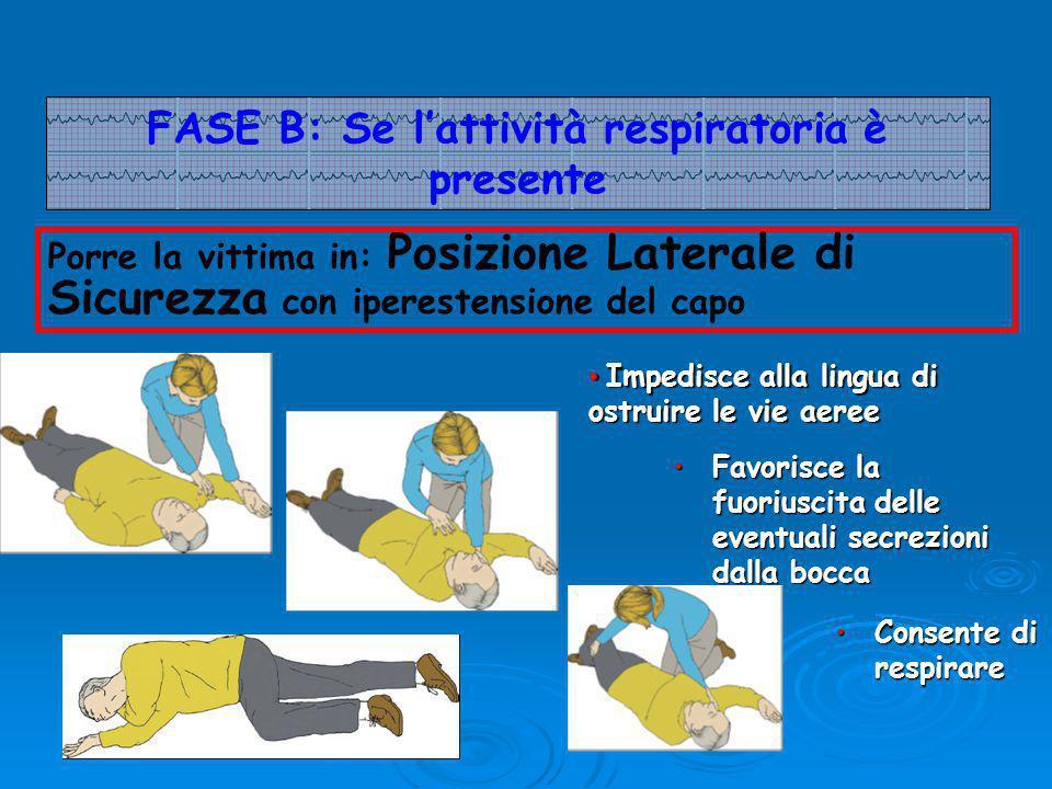 FASE B: Se l'attività respiratoria è presente