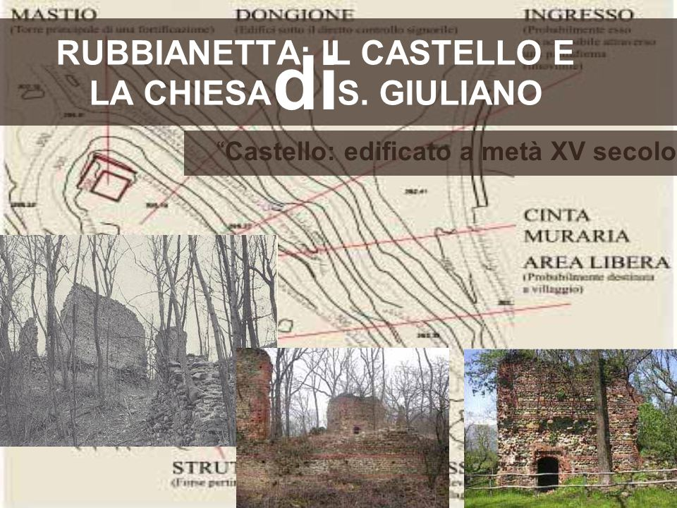 RUBBIANETTA: IL CASTELLO E LA CHIESA S. GIULIANO