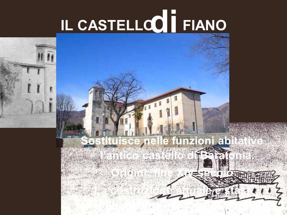 di IL CASTELLO FIANO. Sostituisce nelle funzioni abitative l'antico castello di Baratonia. Origini: fine XIV secolo.