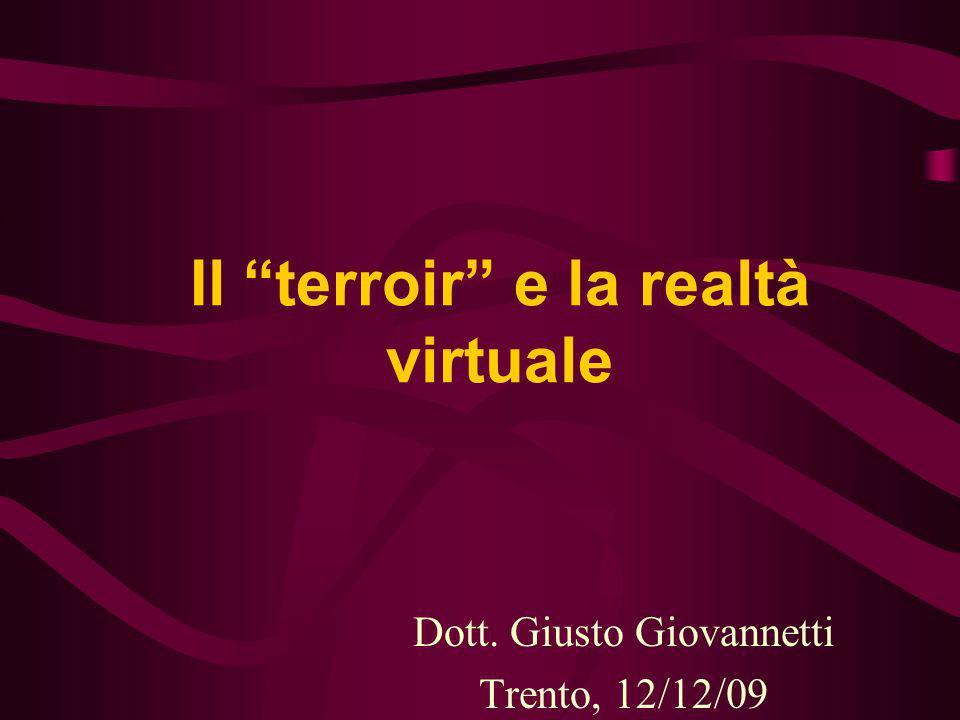 Il terroir e la realtà virtuale