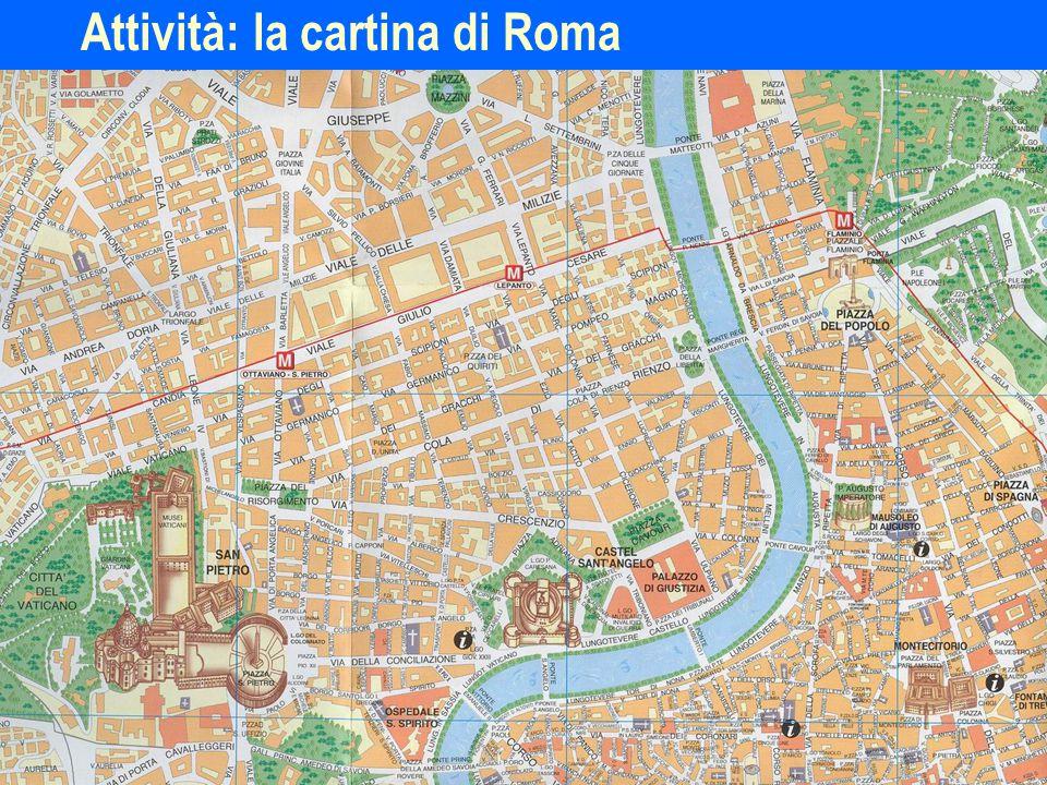 Attività: la cartina di Roma