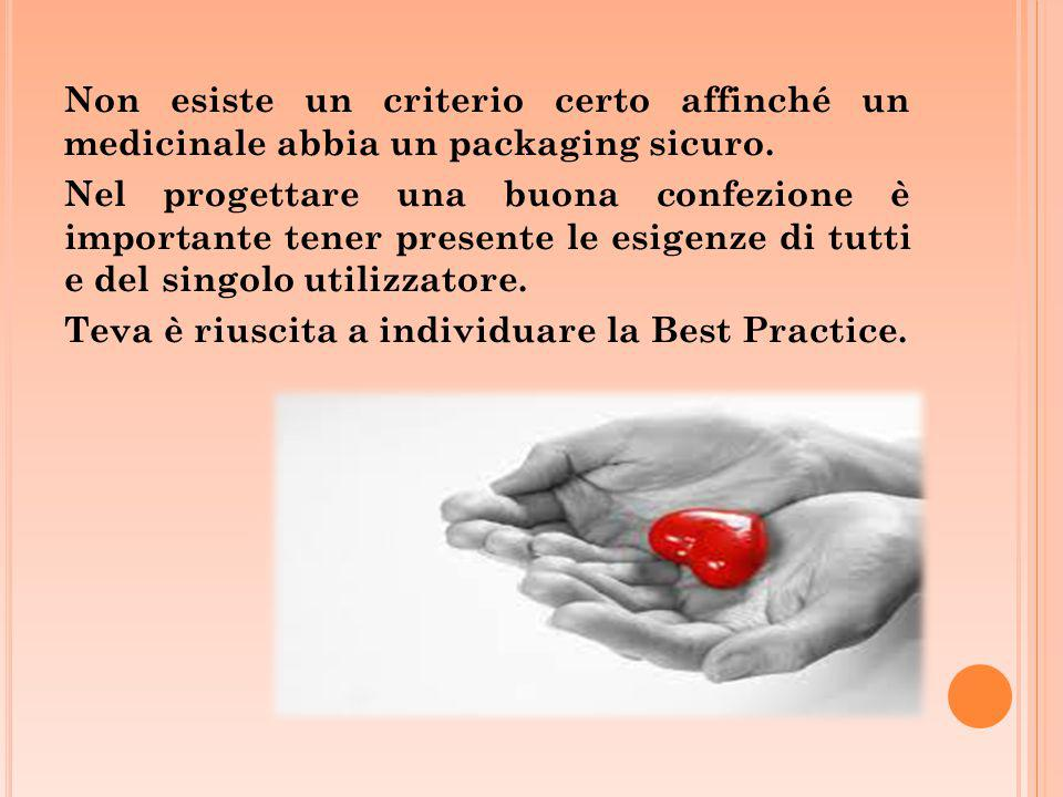 Non esiste un criterio certo affinché un medicinale abbia un packaging sicuro.