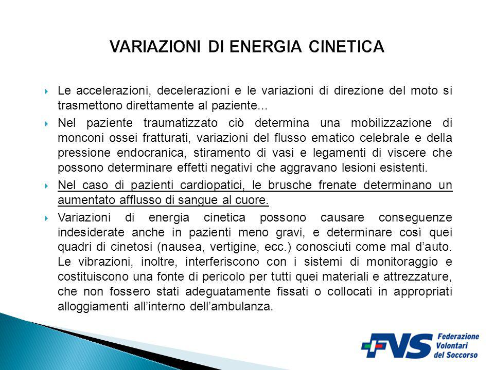 VARIAZIONI DI ENERGIA CINETICA