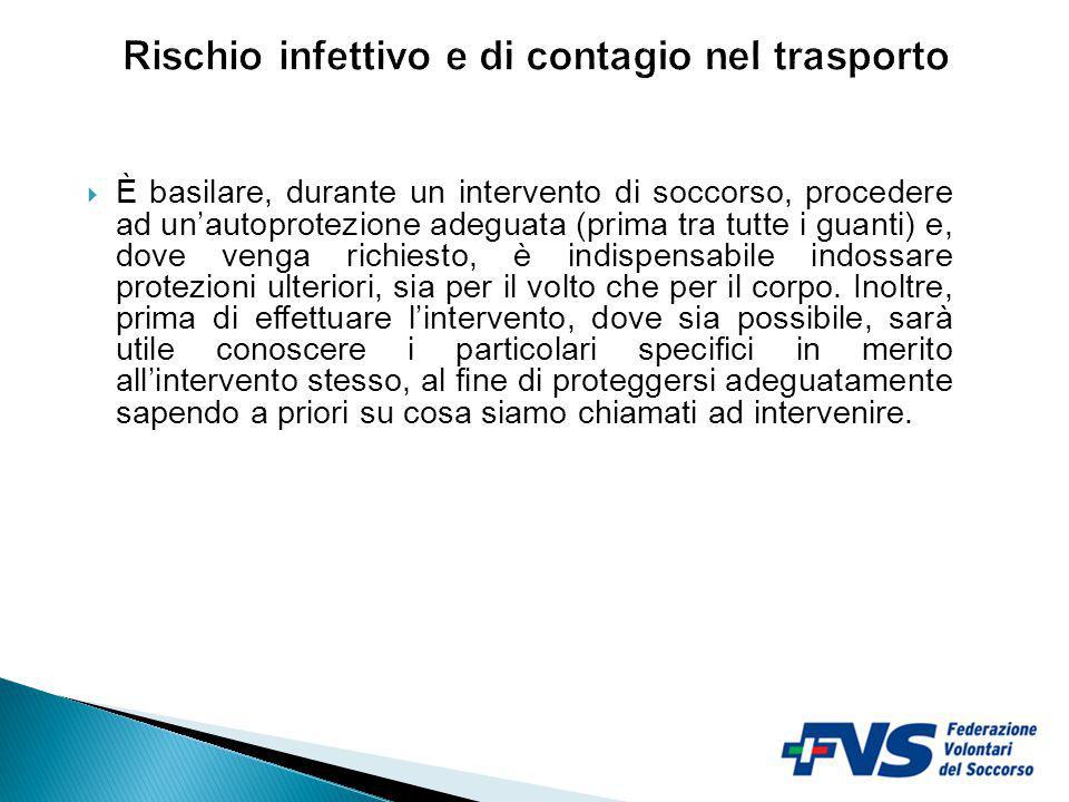 Rischio infettivo e di contagio nel trasporto