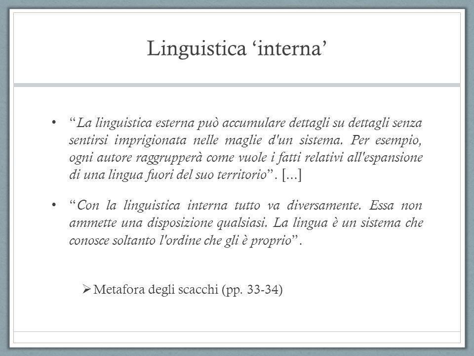 Linguistica 'interna'