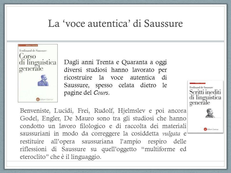 La 'voce autentica' di Saussure