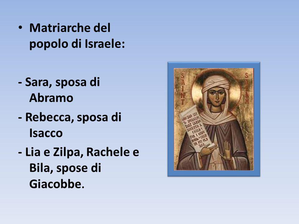 Matriarche del popolo di Israele: