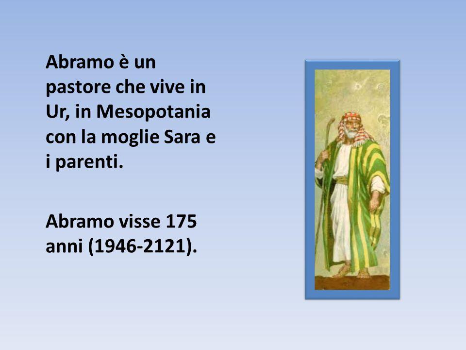 Abramo è un pastore che vive in Ur, in Mesopotania con la moglie Sara e i parenti.