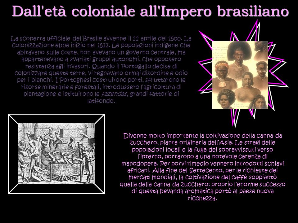 Dall età coloniale all Impero brasiliano