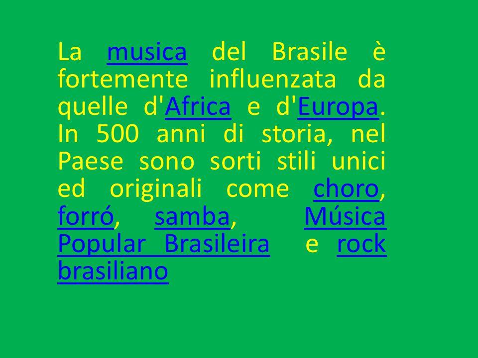 La musica del Brasile è fortemente influenzata da quelle d Africa e d Europa.