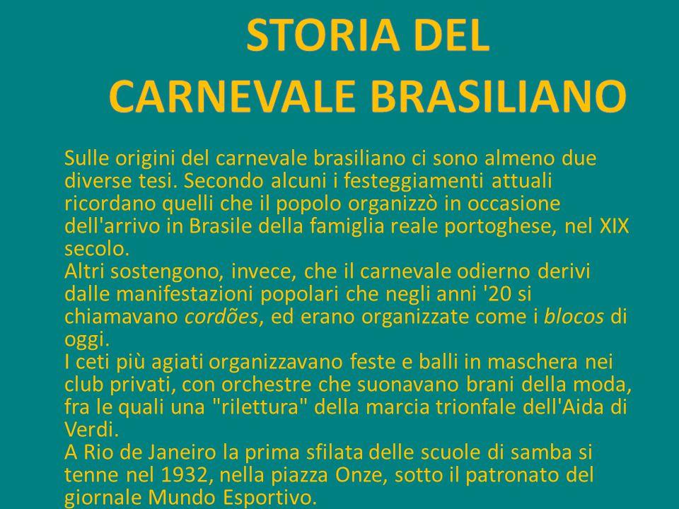STORIA DEL CARNEVALE BRASILIANO