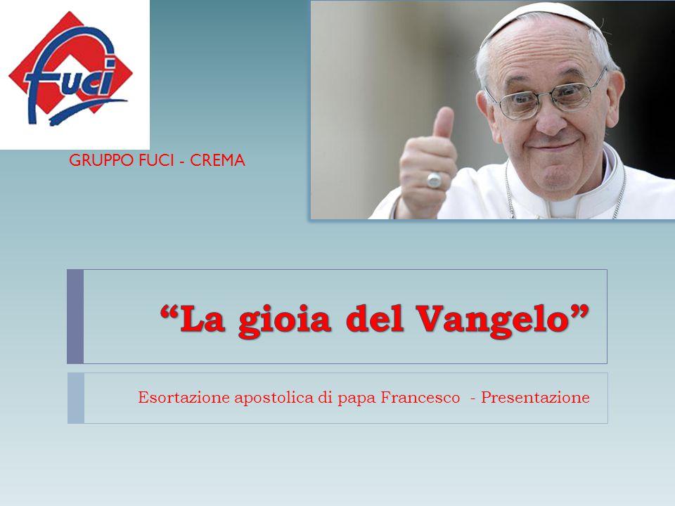 Esortazione apostolica di papa Francesco - Presentazione