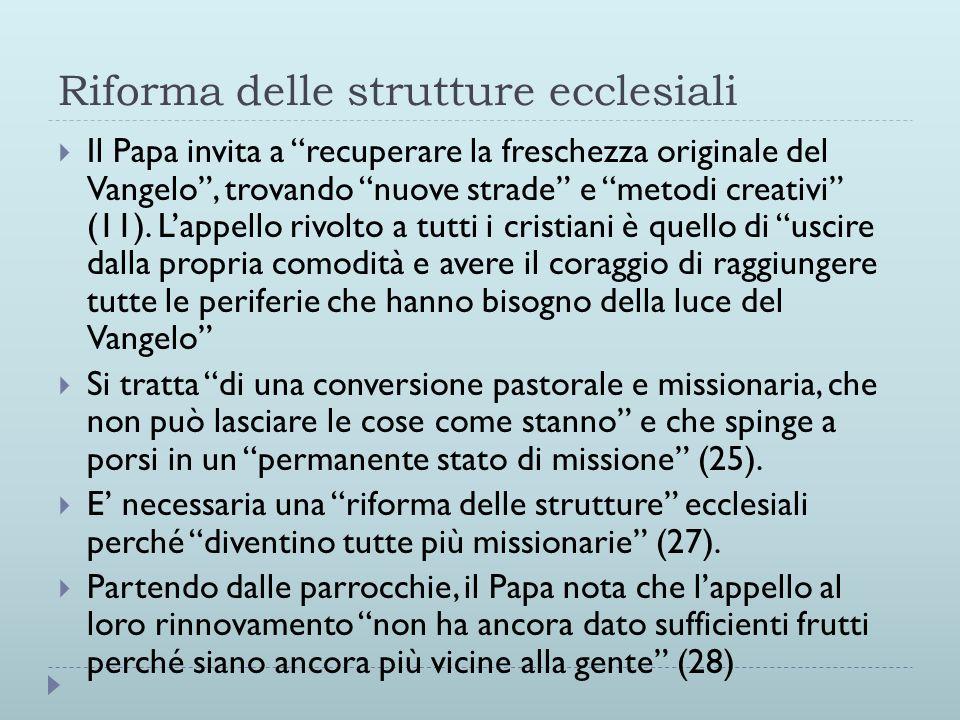 Riforma delle strutture ecclesiali