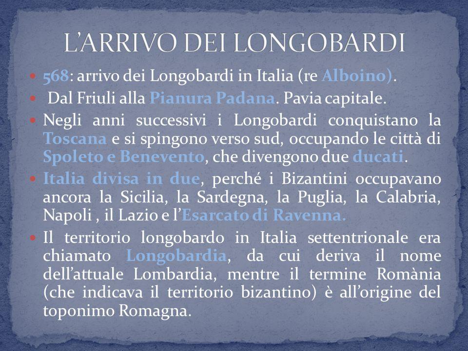 L'ARRIVO DEI LONGOBARDI