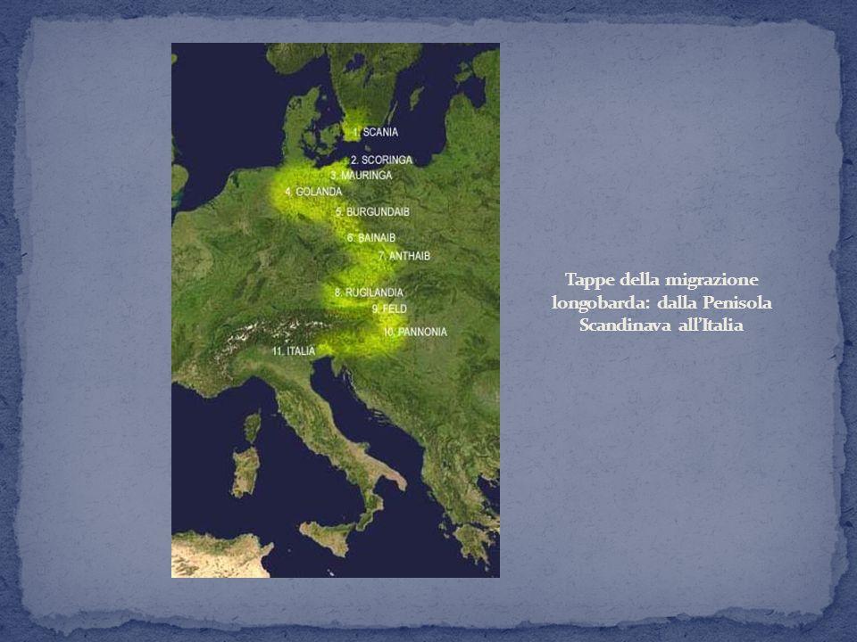 Tappe della migrazione longobarda: dalla Penisola Scandinava all'Italia