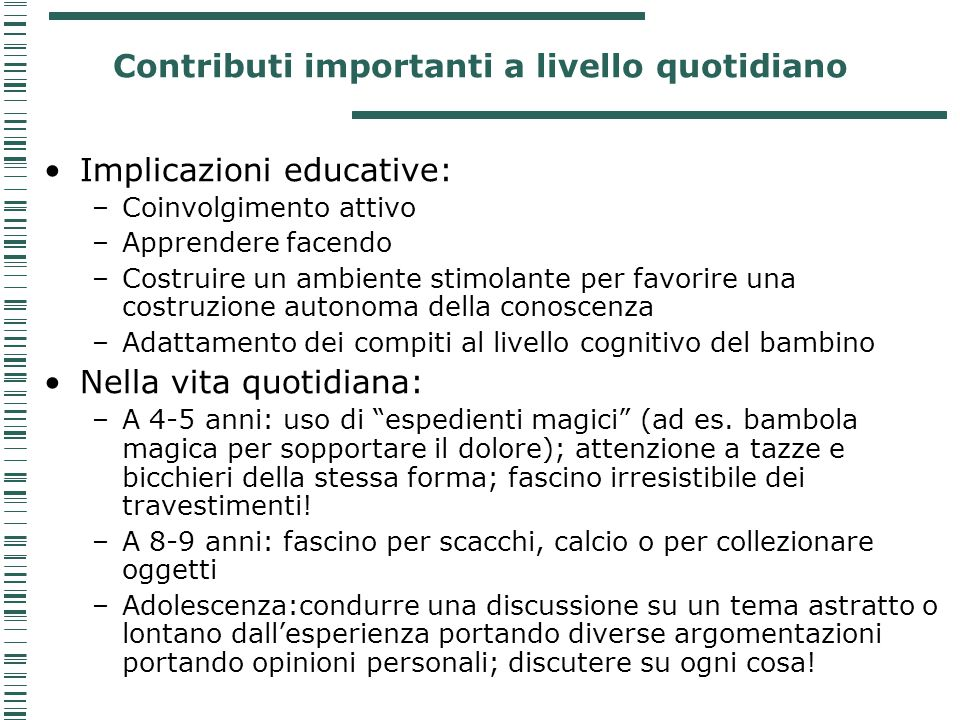 Contributi importanti a livello quotidiano