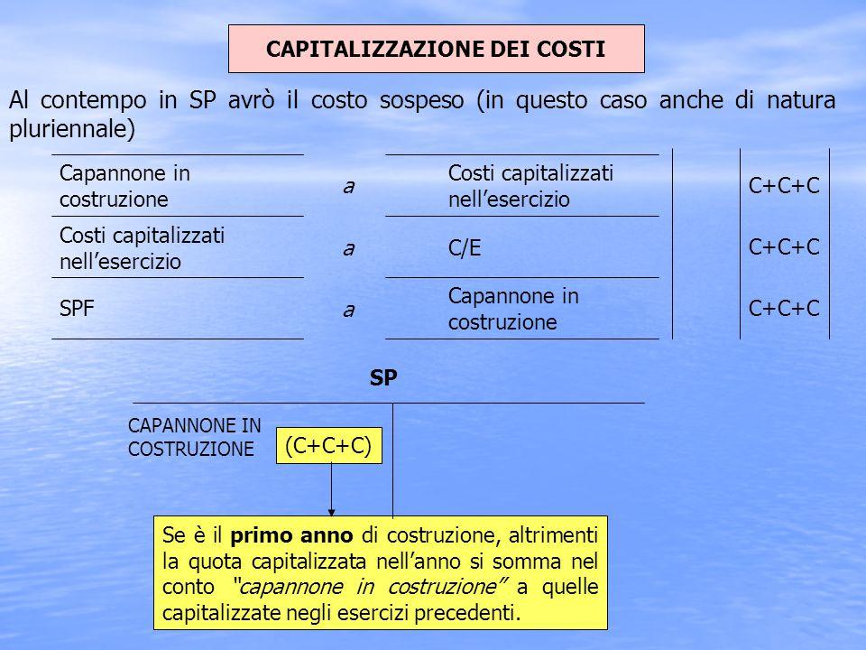 CAPITALIZZAZIONE DEI COSTI
