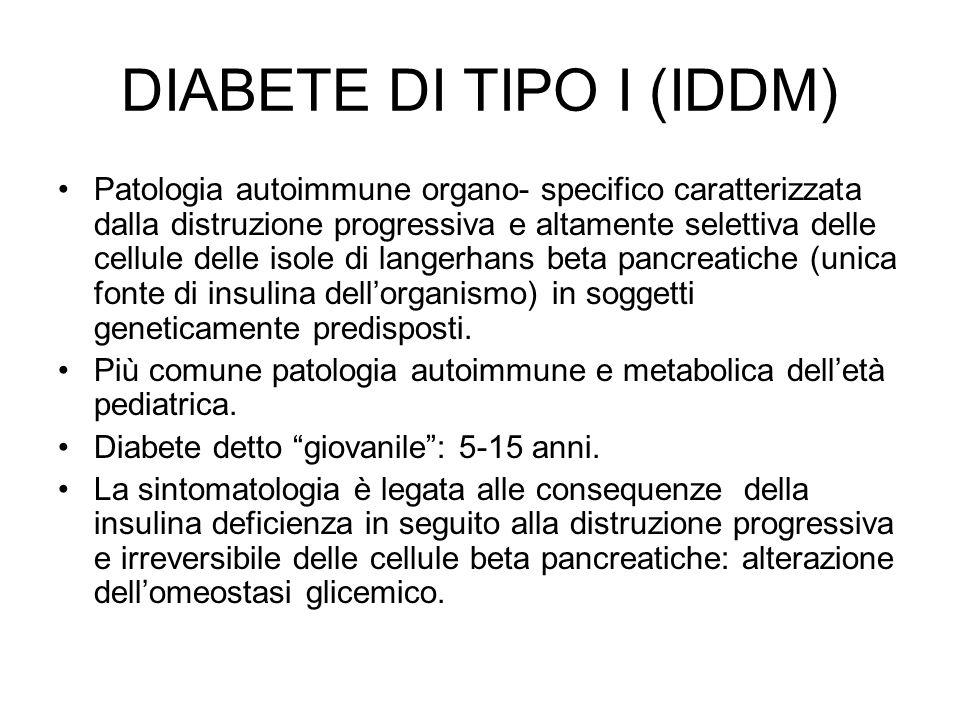 DIABETE DI TIPO I (IDDM)