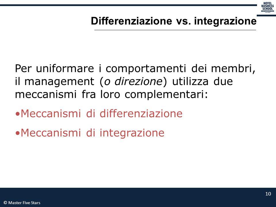 Differenziazione vs. integrazione