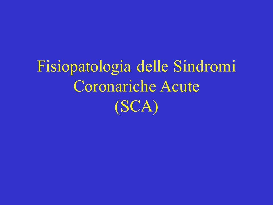 Fisiopatologia delle Sindromi Coronariche Acute (SCA)