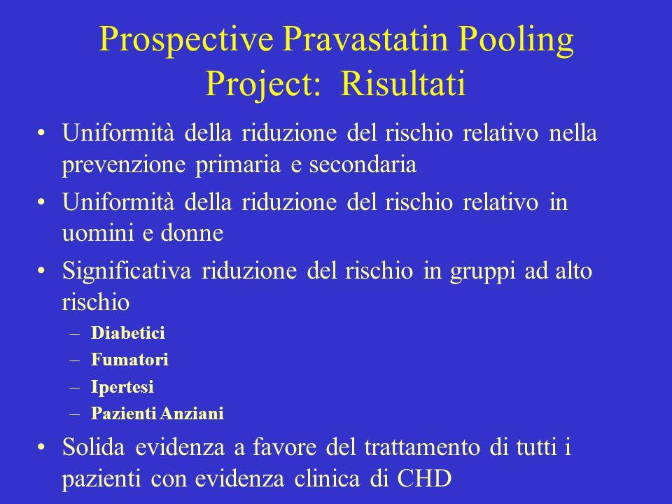 Prospective Pravastatin Pooling Project: Risultati