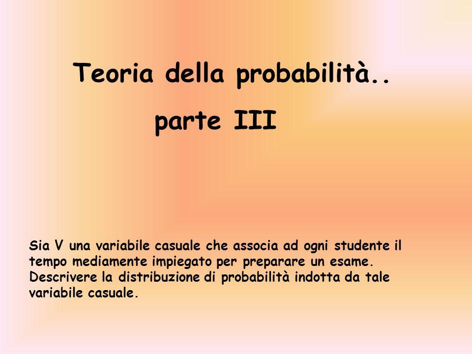 Teoria della probabilità.. parte III