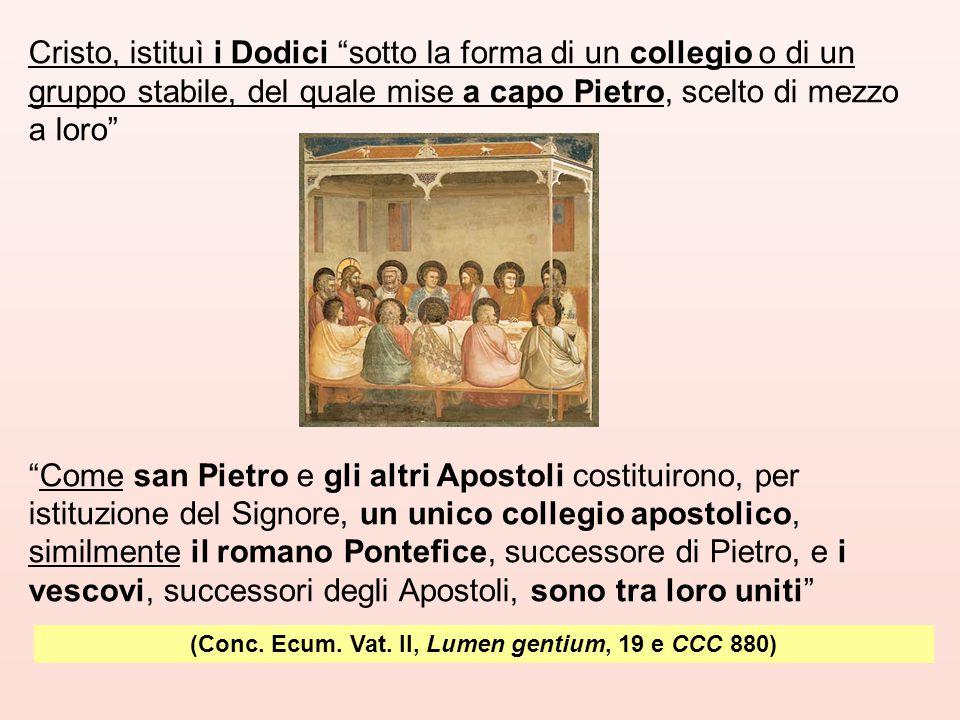 (Conc. Ecum. Vat. II, Lumen gentium, 19 e CCC 880)