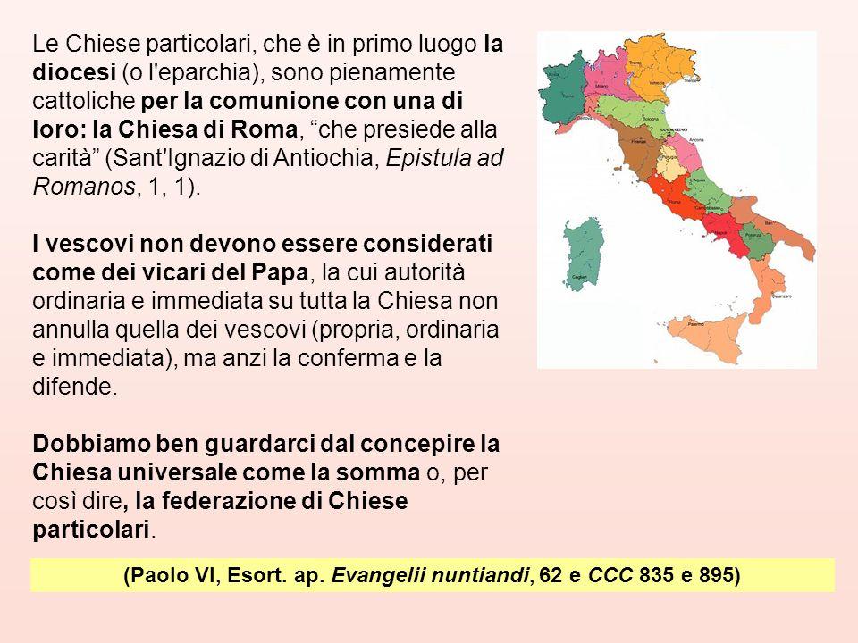 (Paolo VI, Esort. ap. Evangelii nuntiandi, 62 e CCC 835 e 895)