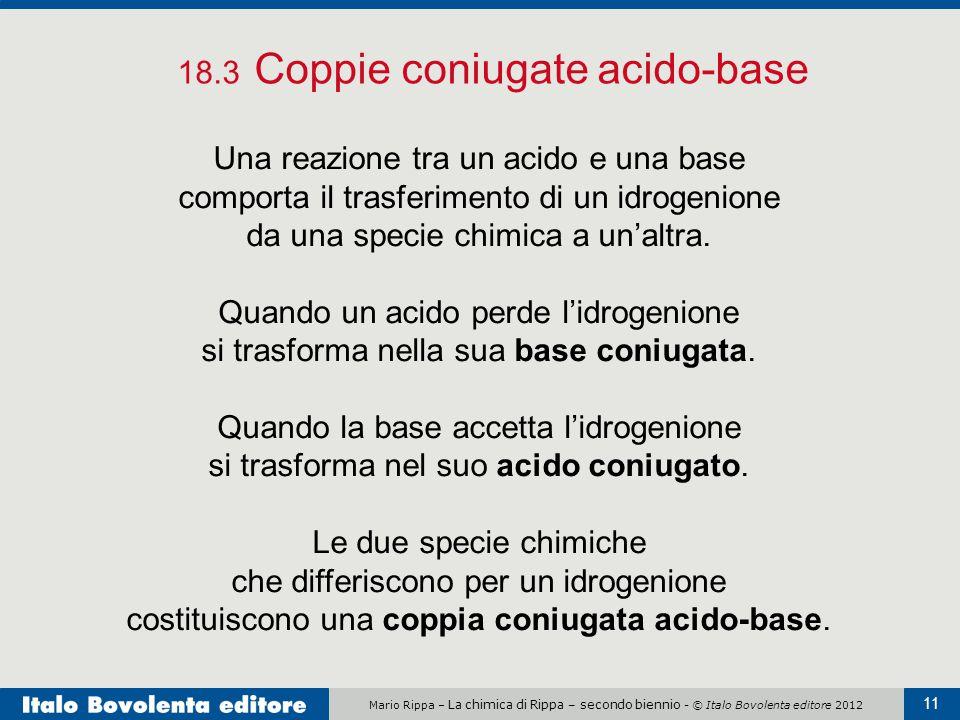 18.3 Coppie coniugate acido-base