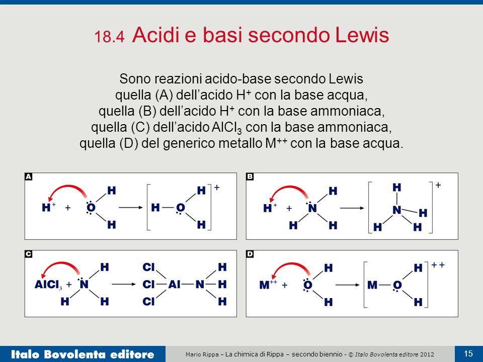 18.4 Acidi e basi secondo Lewis