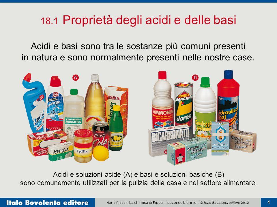 18.1 Proprietà degli acidi e delle basi