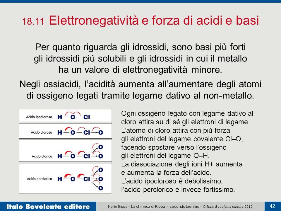 18.11 Elettronegatività e forza di acidi e basi