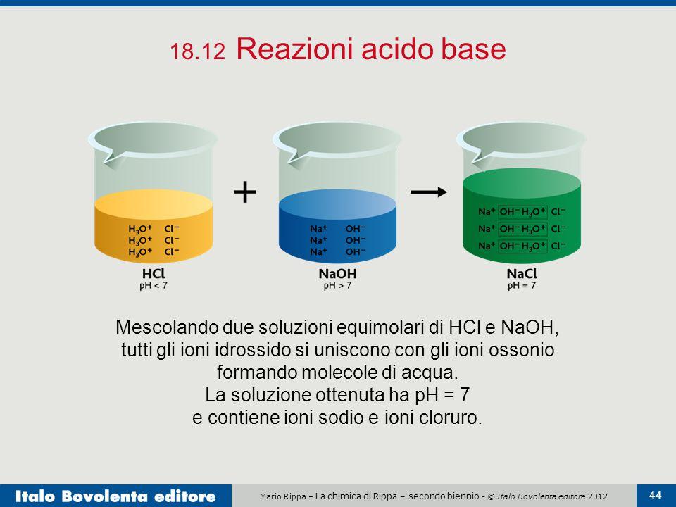18.12 Reazioni acido base