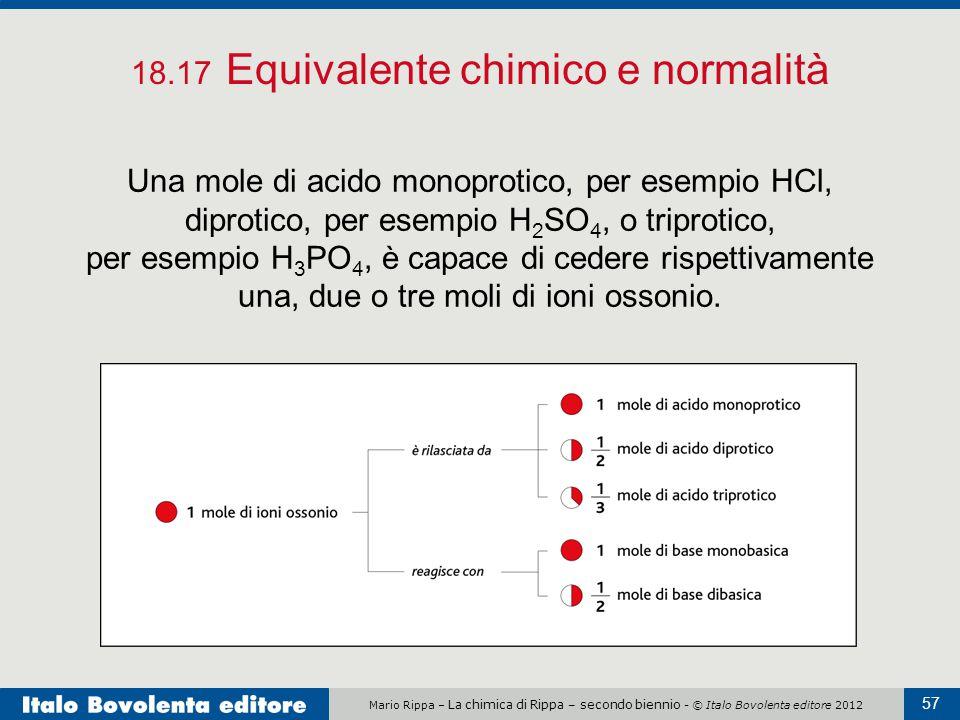 18.17 Equivalente chimico e normalità