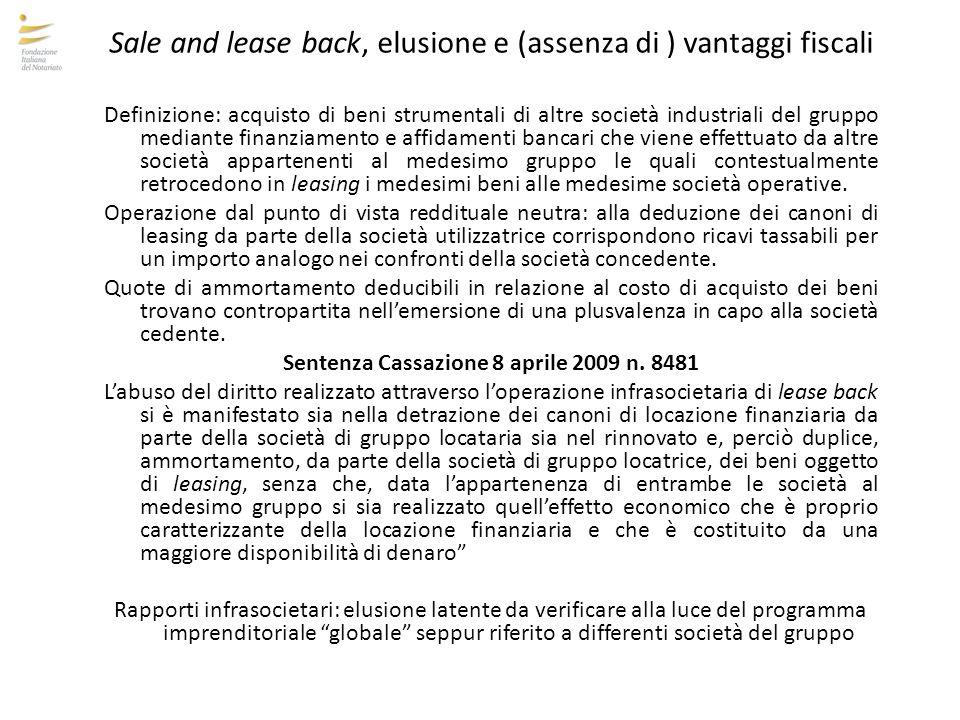 Sentenza Cassazione 8 aprile 2009 n. 8481