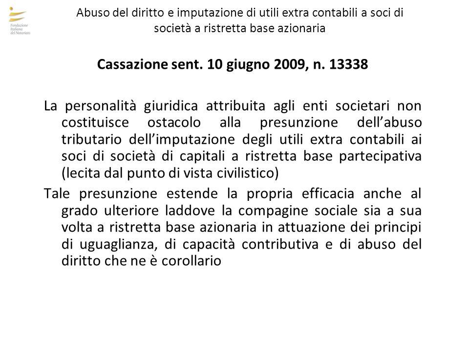 Cassazione sent. 10 giugno 2009, n. 13338