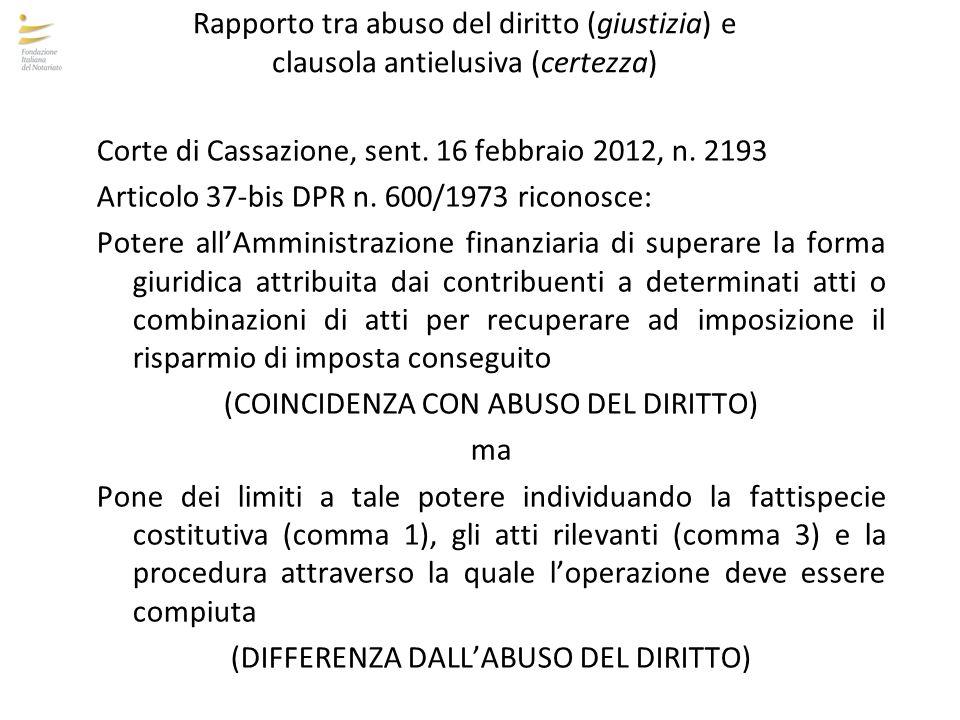 Corte di Cassazione, sent. 16 febbraio 2012, n. 2193