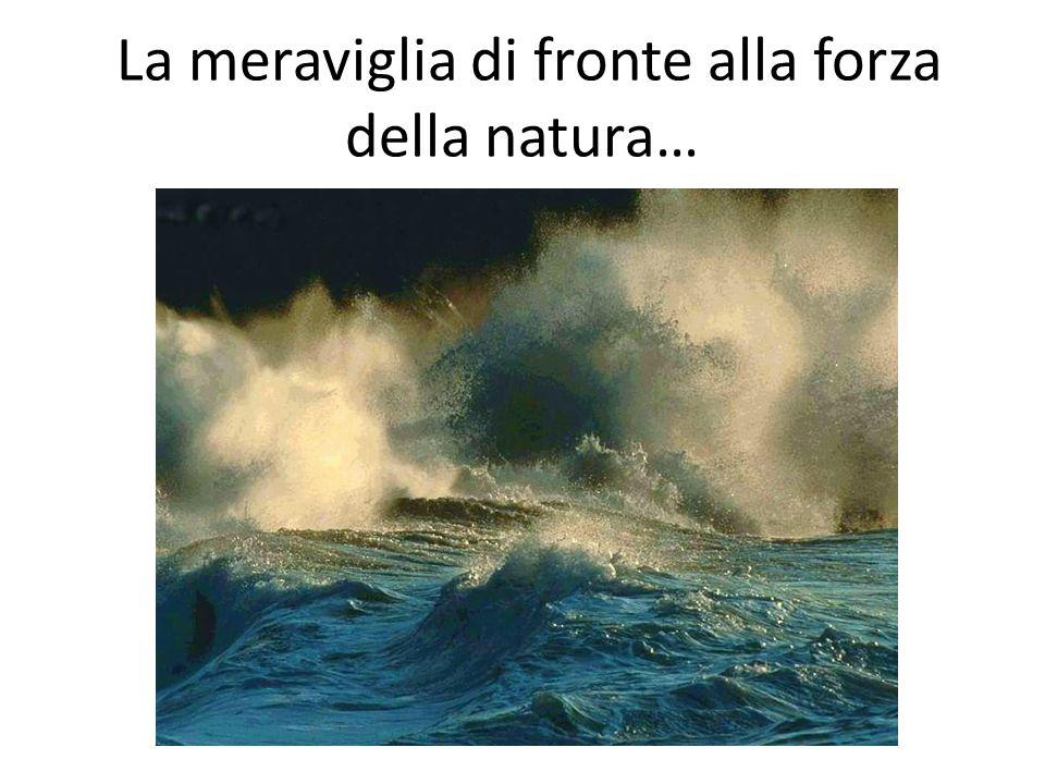 La meraviglia di fronte alla forza della natura…