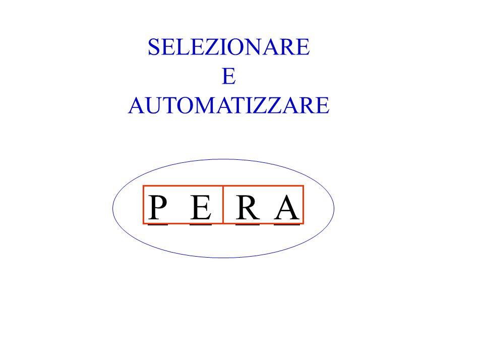 SELEZIONARE E AUTOMATIZZARE P E R A