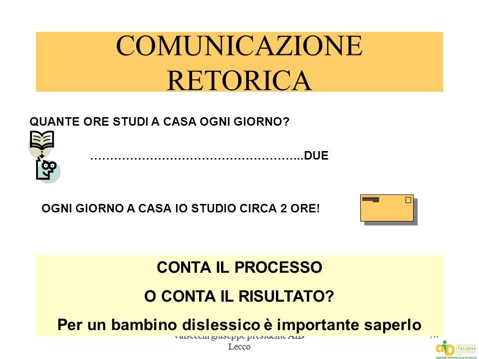 COMUNICAZIONE RETORICA
