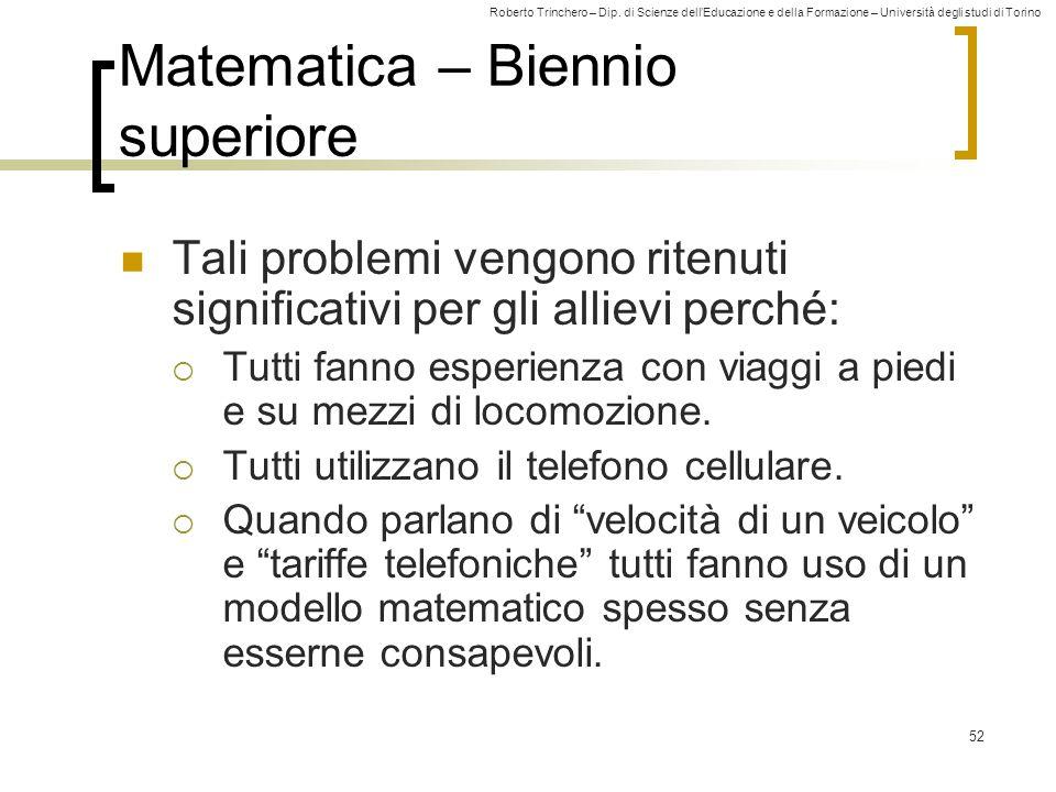 Matematica – Biennio superiore