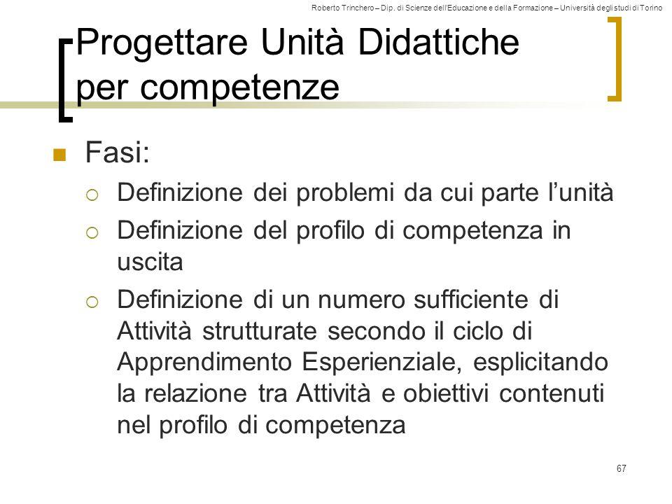 Progettare Unità Didattiche per competenze